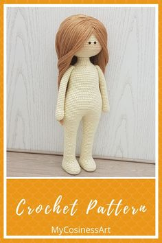 English pattern is provided as a digital file in PDF format. The finished product is 11.8 inches / 30 cm tall. #crochetamigurumi #crochetamigurumipattern #CrochetDollpattern #Crochetpattern #mycosinessart Crochet Deer, Diy Crochet And Knitting, Crochet Doll Pattern, Crochet Patterns Amigurumi, Handmade Ideas, Handmade Toys, Knitted Dolls, Crochet Dolls, Unique Crochet