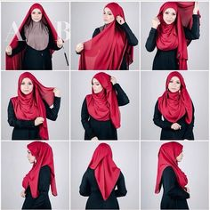 How to wear earrings with hijab.