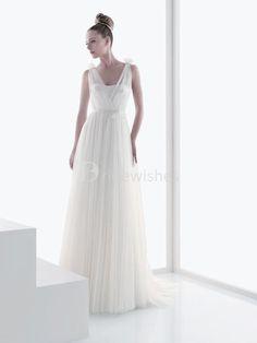 Satin Fine-netting A-Line Sleeveless V-neck Wedding Dresses 2012  $128.99