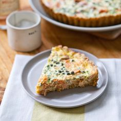Smoked Salmon and Creme Fraiche Tart with Cornmeal Millet Crust | A Sweet Spoonful