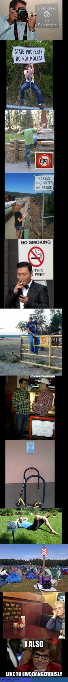 Funny Pictures Of Live Dangerously