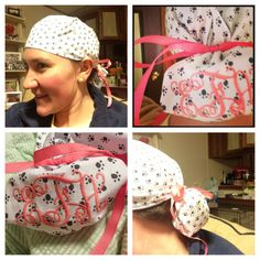 GelScrubs Pink Ribbon Embroidered Scrub Cap   Cute Accessories   Pinterest    Pink, Pink ribbons and Cap d'agde