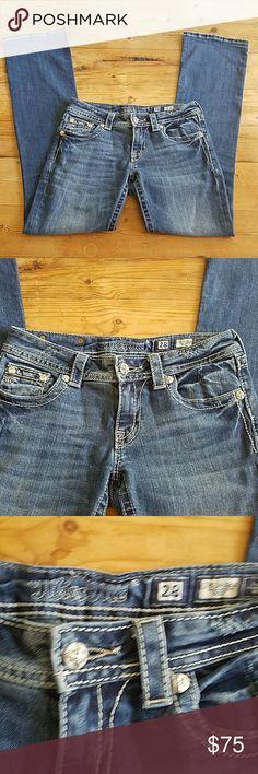 Miss Me Boot Cut Jeans size 28 Cute boot cut Miss Me jeans in great shape, size 28 Miss Me Jeans Boot Cut