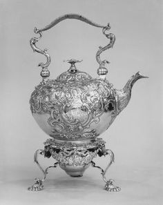 "Unknown artist, ""Tea Kettle on Lamp Stand,"" 18th century; Indianapolis Museum of Art, Delavan Smith Fund, 75.191"