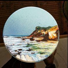 oilpainting in metal surface Surfboard, My Arts, Surface, Metal, Tableware, Dinnerware, Tablewares, Surfboards, Metals
