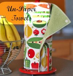 Unpaper Towels by Mindfully Frugal Mom - not like I'm going to go out of my way to make some, but it's a thought. PCDC probably has lots of cheap cloth napkins.