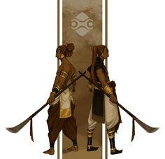 suggart:  Gerudo twins for a Zelda AU