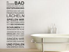 Wandtattoo In diesem Bad zur Wandgestaltung im Badezimmer
