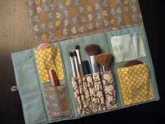 Patchwork Makeup Roll Pattern : So very perfect! -- made by Stitched In Color