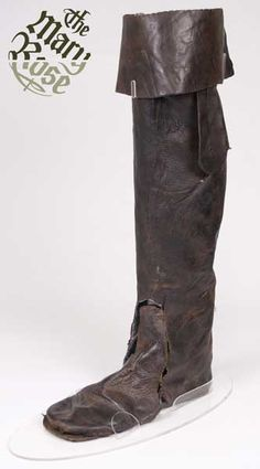 Leather thigh boot, recovered from the Mary Rose wreckage.