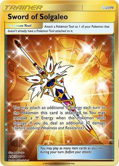 Sword of Solgaleo Custom Pokemon Card - Legendär - Origami Diy Pokemon Cards, Solgaleo Pokemon, Pokemon Rules, Pokemon Fusion Art, Gold Pokemon, Cute Pokemon, Pokemon Card Box, Pokemon Packs, Pokemon Cards Legendary