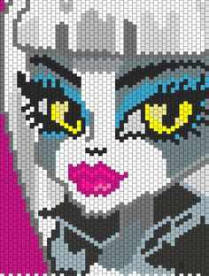 Monster High Meowlody bead pattern More