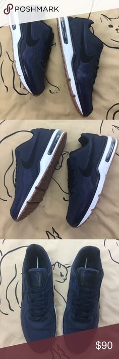 Nike Air Max Premium Navy Black Gumsoles  Near new as you can see. 09f8f4cb7