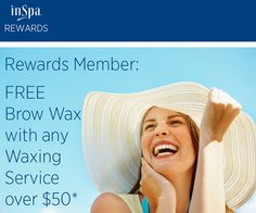 The September Rewards member promotion is here - FREE brow wax w/ any waxing service over $50!