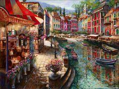 "Artist, Vadik Suljakov ~ ""Belle Portofino""."