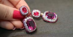 IVY New York earrings with 20,09 cts rubellites, red spinels, rubies and diamonds