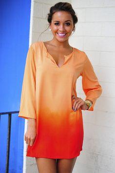 Ombre Orange Dress http://www.studentrate.com/fashion/fashion.aspx