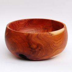 Yew wood bowl
