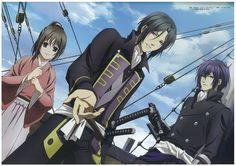 Yukimura Chizuru, Hijikata Toshizo and Saito Hajime