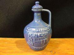 Vinho Porto Tawny Vintage Blue Ceramic Porto Bottle Empty | eBay