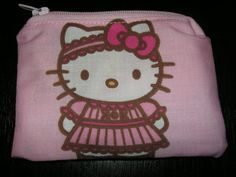 Hello Kitty handmade zipper fabric coin by alwaysamazingdesigns, $2.99