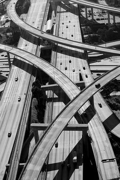 110 & 405 Freeway Interchange, Los Angeles, CA by Andrew Meyers Photography, via Flickr