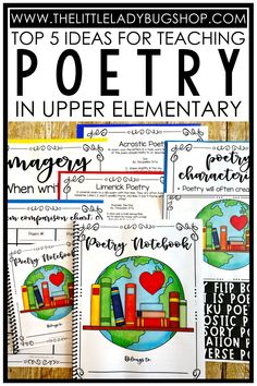 Teaching poetry doesn't have to be difficult! Easily introduce, teach, and practice poetry writing to your upper elementary students in 3rd grade, 4th grade, or 5th grade. You'll find my top 5 ideas for introducing and teaching poetry to kids, as well as my 5 favorite resources. Download a FREE poetry practice and writing resource for Poetry Month, too!