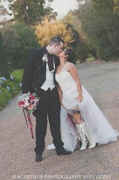 Bride in High Boots