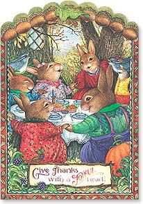 Thanksgiving Card - For life's good blessings... | Susan Wheeler | 73614 | Leanin' Tree