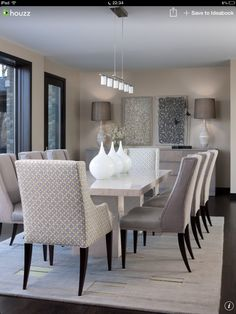 decorating dining room ideas. Cozy White Kitchen Table And Chairs: Contemporary Dining Room With Tabletop Vases Lamp On The Side Gray Leather Chairs Decorating Ideas