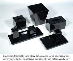 SCW Interiors - Black Lacquer Bath Collection