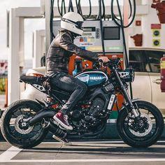 Scrambler Custom, Scrambler Motorcycle, Moto Bike, Motorcycle Style, Motorcycle Design, Biker Style, Yamaha Cafe Racer, Yamaha Bikes, Bike Rider