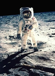 Buzz Aldrin On Moon:-  clicked by Neil Armstrong with a 70 mm lunar surface camera after Apollo 11 landed on moon and they became the first human beings to walk on moon.  Isn't it reminiscent of the textbook chapters where you first learnt about Man's first steps on the moon.