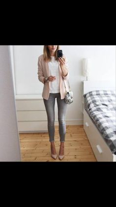 Cute Blazer Outfits, Preppy Outfits, Simple Outfits, New Outfits, Fashion Outfits, Womens Fashion, Fasion, Formal Chic, Cute Blazers