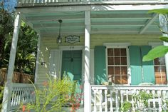 key west house colors. They paint the ceilings of porches a sky blue to keep the spirits away.