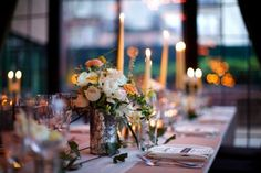 Image result for mercury glass wedding tablescape