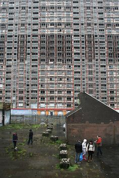 Red Road Flats, Glasgow.                                                                                                                                                                                 More