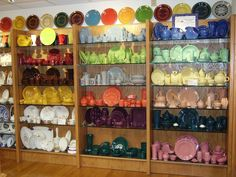 Museum of fiestaware and other designs by HLC. Newell, WV.