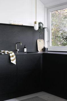 Kitchen and Bathroom Design Ideas - Black Gold color ideas to make any space feel glamorous and sleek | Apartment Therapy