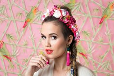 We Are Flowergirls- Tropical Collection Ss16, Hair Jewelry, Yellow Flowers, Flower Crown, Tropical, Lady, Pink, Inspiration, Collection