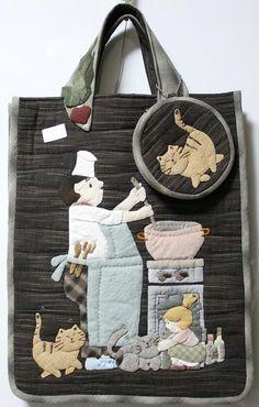 貝田明美 手提袋材料包/爸爸的厨房之1