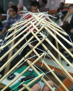 I just cant help fallin' in love with this thing doing this learning this and expertising this  Parametric design  Tensegrity 1:20 scale size  #architect #arsitektur #arsitek #tensegriti #bamboo #bambu #instalasi #installation #architecture #architecturestudent #art #seni #paramertic #parametricdesign #uii #itb #summercamp #summerschool #hypartensegrity #tensegrity #desain #desainparametrik #design#nido by donija_