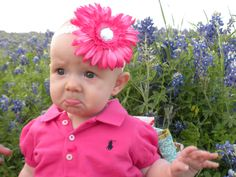 One of the official team babies... Harper just loved every moment of these bluebonnet pictures!