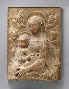 Madonna and Child with Angels Artist: Antonio Rossellino (Italian, Settignano 1427–ca. 1479 Florence) Date: ca. 1455–60 Culture: Italian, Florence Medium: Marble with gilt details on halo and dress
