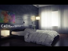 A simple tutorial on how to set up lighting and render settings for an interior scene.