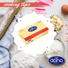 Dana Sweet (unsalted) butter in 200 gram consumer packages Unsalted Butter, Cooking Tips, Sweet, Food, Cooking Hacks, Hoods, Meals