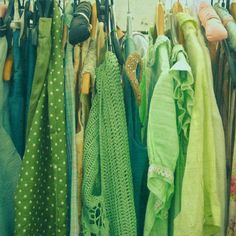 Green Clothes.... I want this for my closet! <3 green! #green #fashion #style