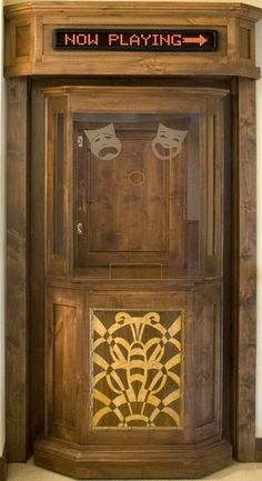 Creative Concept Home Theater Ticket Booth Door For Your Home!
