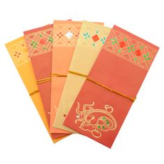 10 Premium Design Indian Money Envelopes (2 pks of 5)