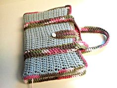 Crochet Bible Cover Tote by PrettyByPam on Etsy, $30.00